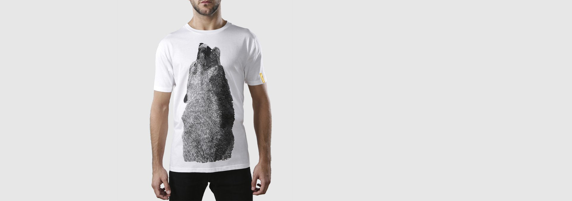 Wolf Howling Organic Cotton T-Shirt White