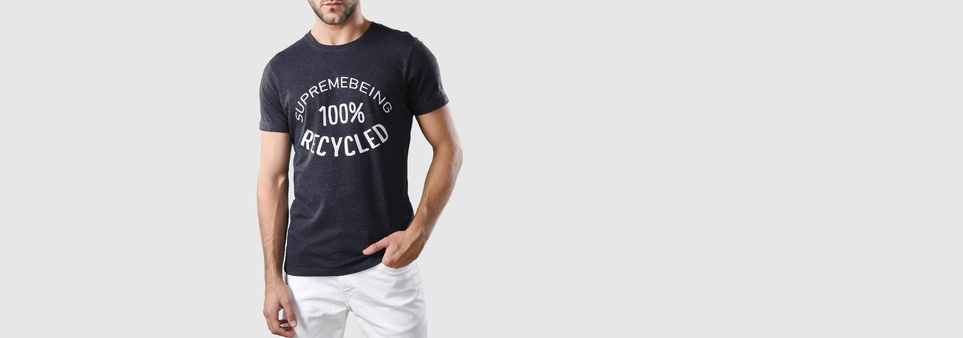Recycled T-Shirt Melange Navy