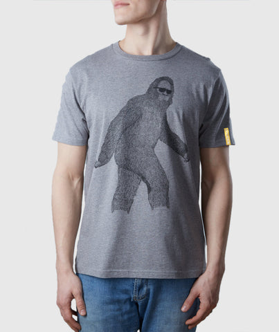 Big Foot Organic Cotton T-Shirt Melange Grey