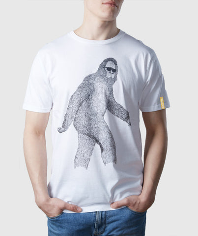 Big Foot Organic Cotton T-Shirt White