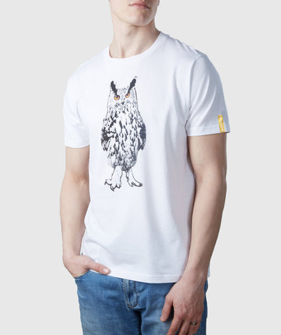 Owl Organic Cotton T-Shirt White
