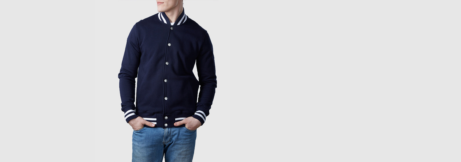 Varsity Organic Cotton Jacket Navy