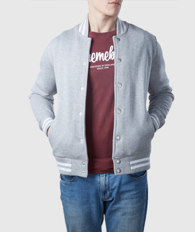 Varsity Organic Cotton Jacket Grey