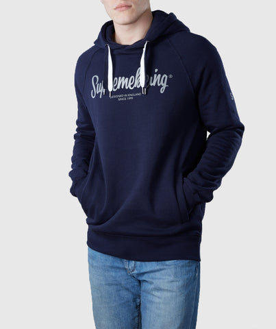 Scribble Organic Cotton Hoodie Navy