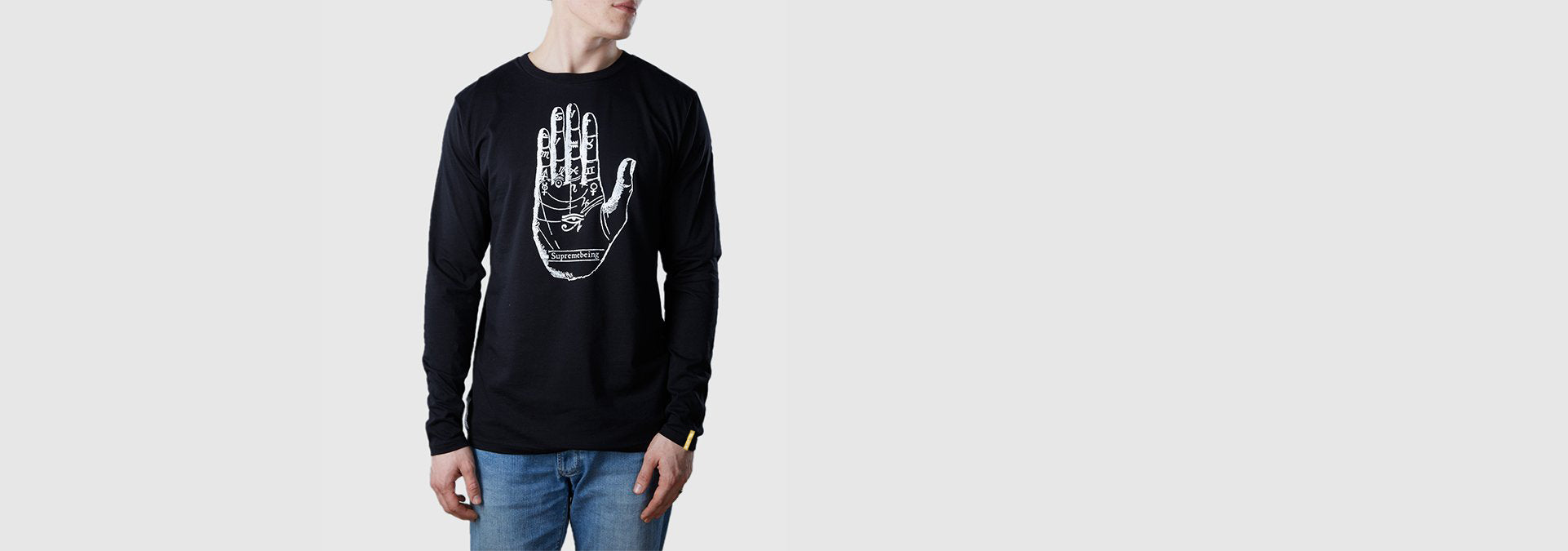Mystic Hand Organic Cotton L/S T-Shirt Black