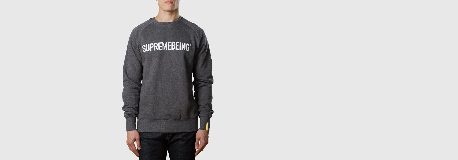 Supremebeing Logo Sweat Dark Heather