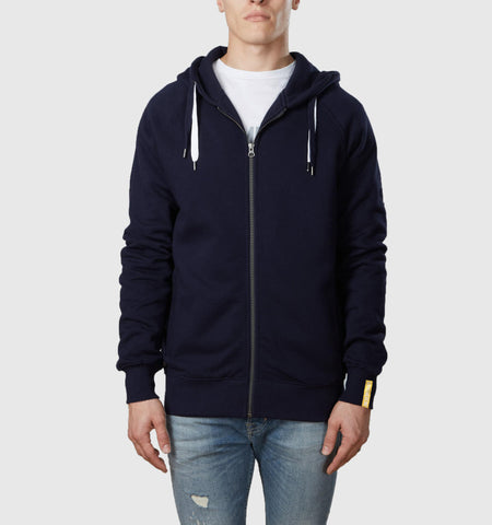 Core Organic Cotton Zip Through Hoodie Navy
