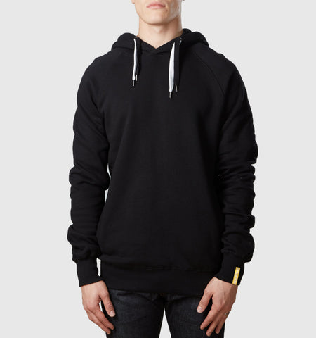 Core Organic Cotton Hoodie Black