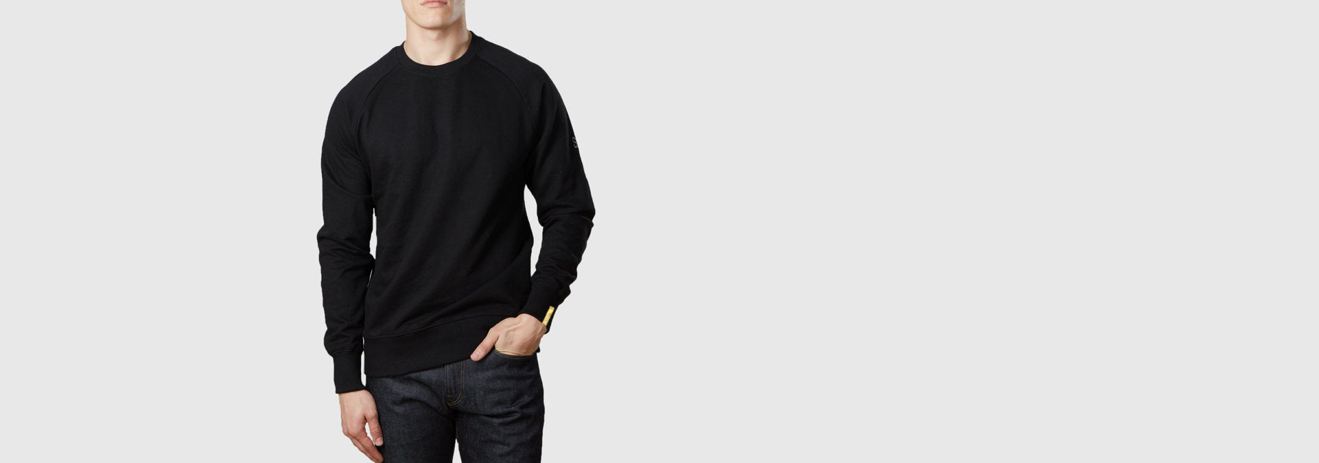 Core Organic Cotton Sweatshirt Black