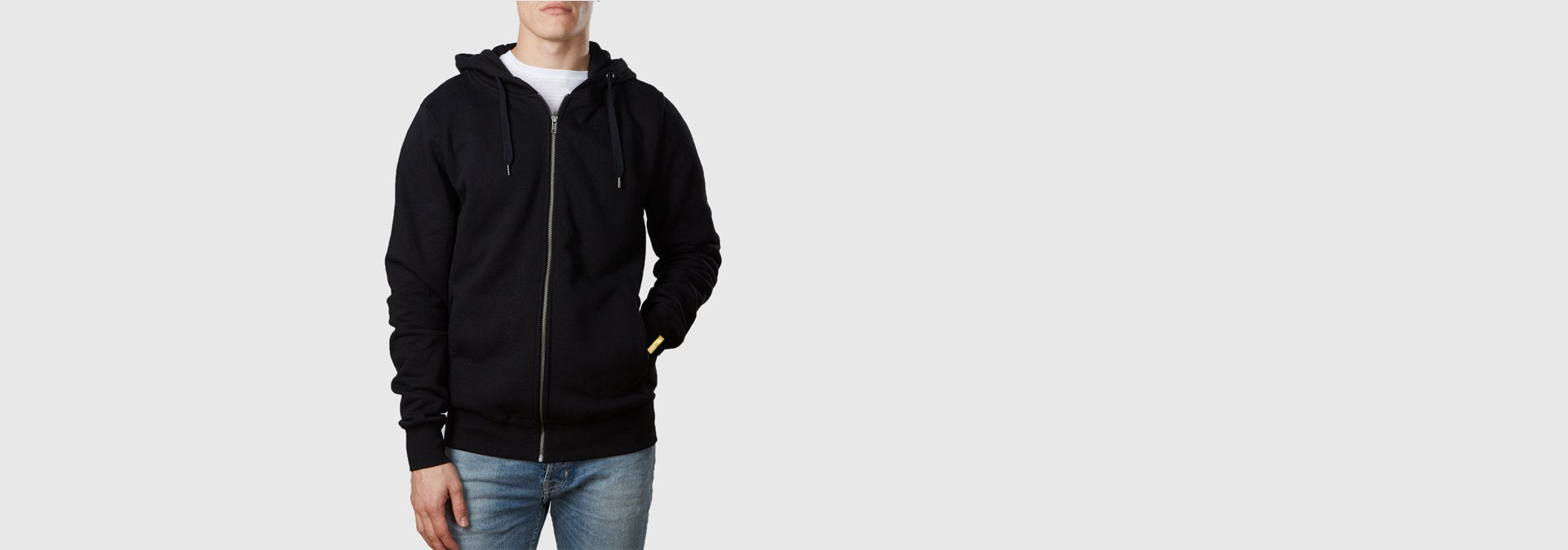 Core Zip Through Hoodie Black