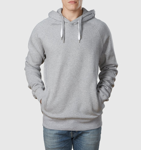 Core Organic Cotton Hoodie Melange Grey