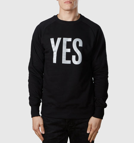 Yes Organic Cotton Sweat Black