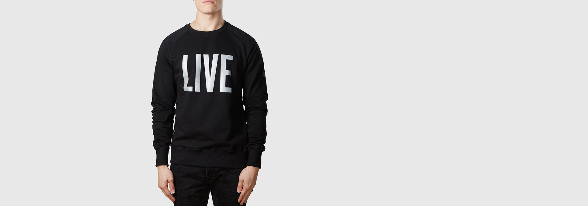 Live Organic Cotton Sweat Black