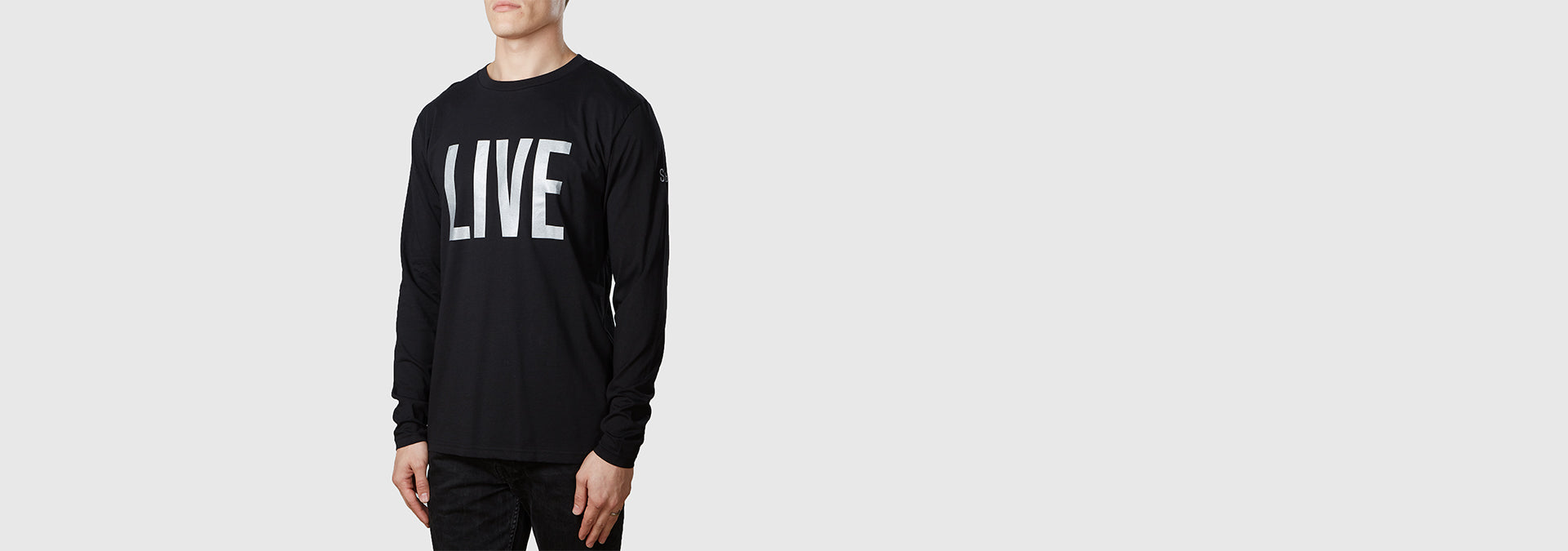 Live Organic Cotton L/S T-Shirt Black