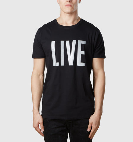 Live Organic Cotton T-Shirt Black