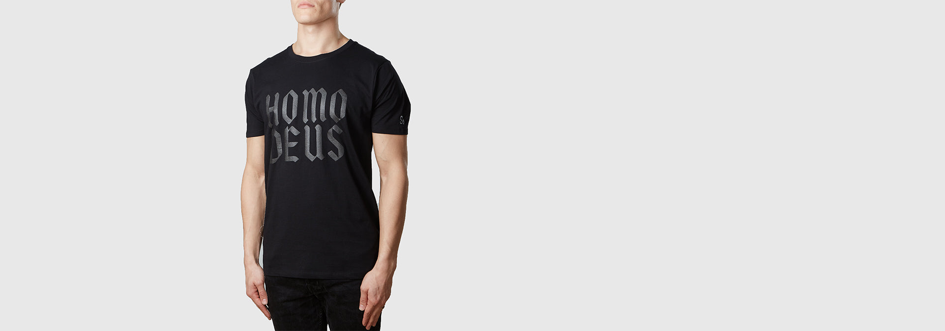 Homo Deus Organic Cotton T-Shirt Black