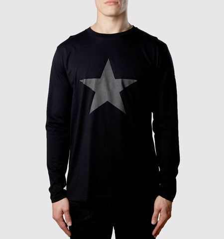 Graphite Star Organic Cotton L/S T-Shirt Black