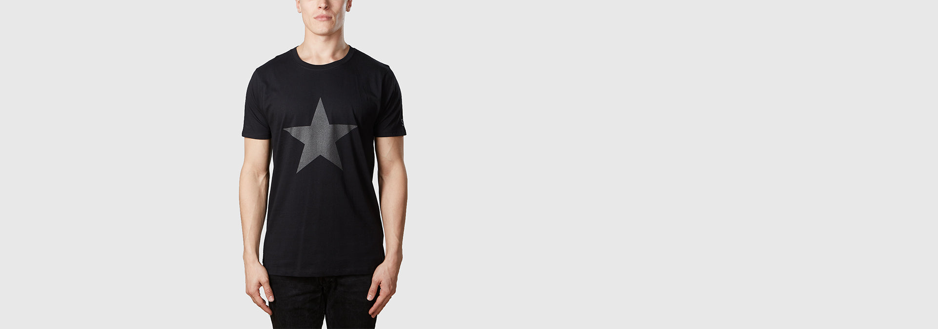 Graphite Star Organic Cotton T-Shirt Black