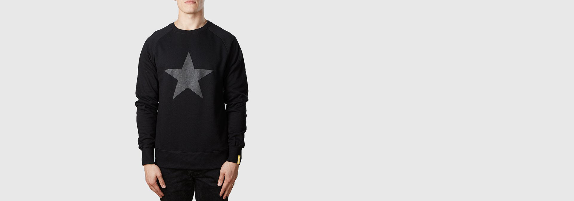 Graphite Star Organic Cotton Sweat Black
