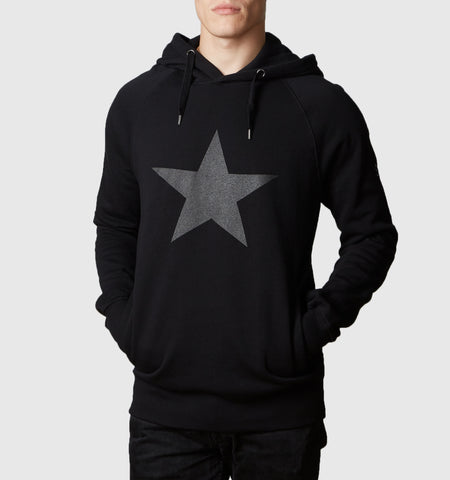 Graphite Star Organic Cotton Hoodie Black