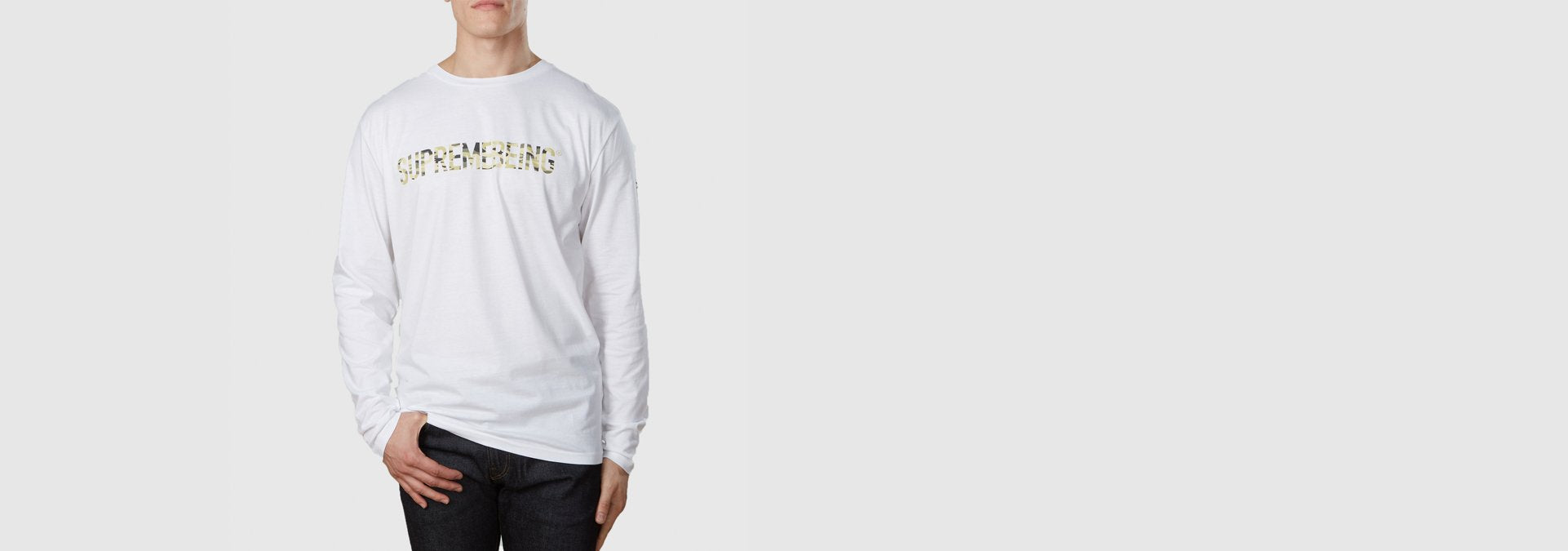 Supremebeing Camouflage L/S T-Shirt White