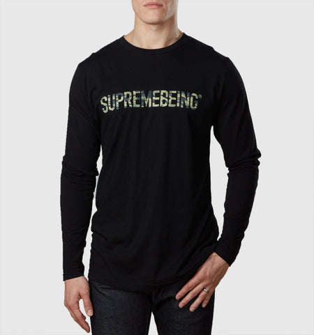 Supremebeing Camouflage  L/S T-Shirt Black