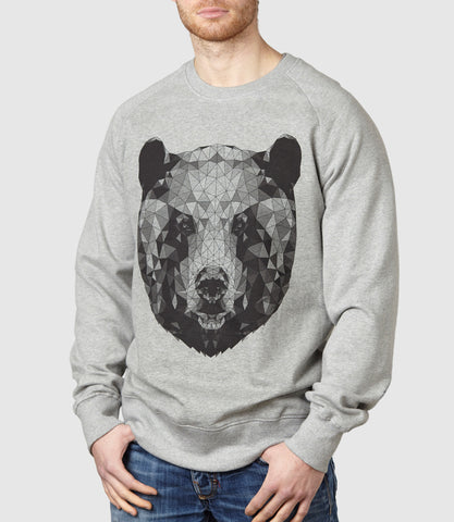 Mono Bear Sweatshirt Light Heather