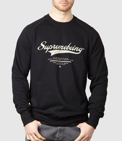 Retroscript Sweatshirt Black