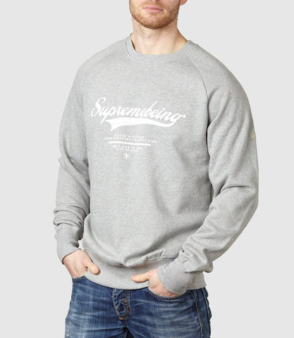 Retroscript Sweatshirt Light Heather