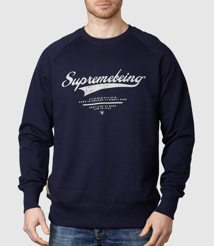 Retroscript Sweatshirt Navy