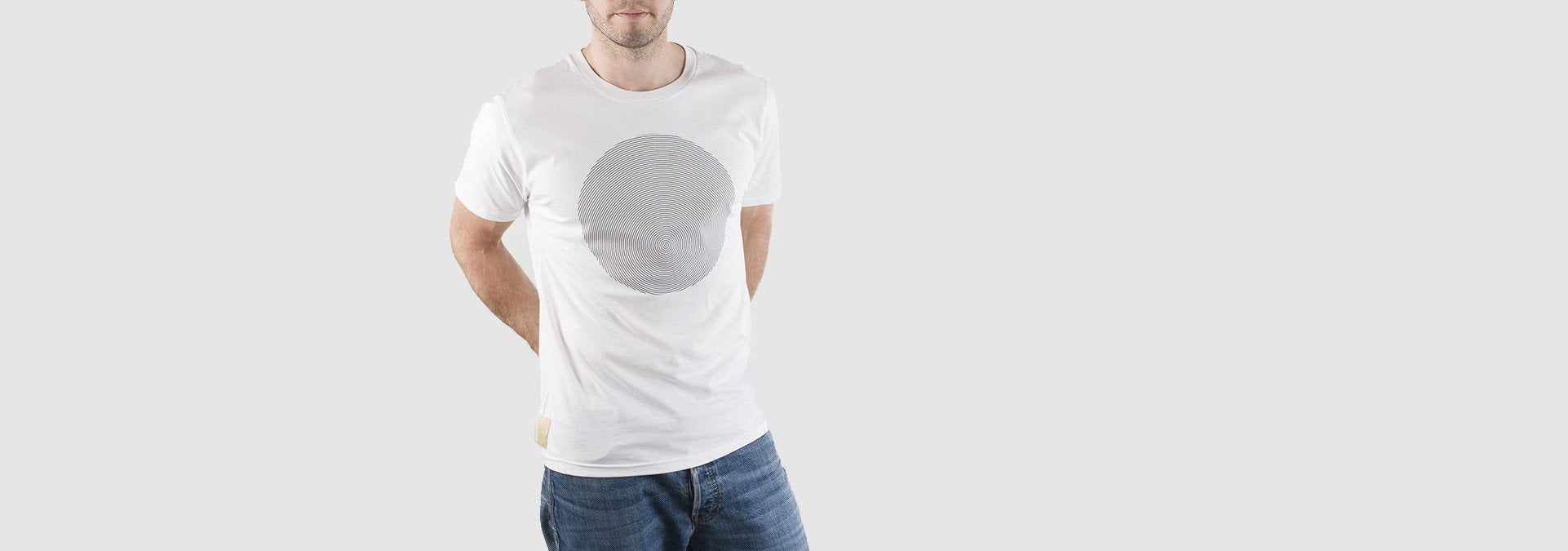Geomet Disc T-Shirt White