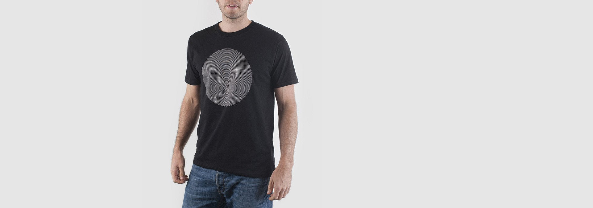 Geomet Disc Organic Cotton T-Shirt Black
