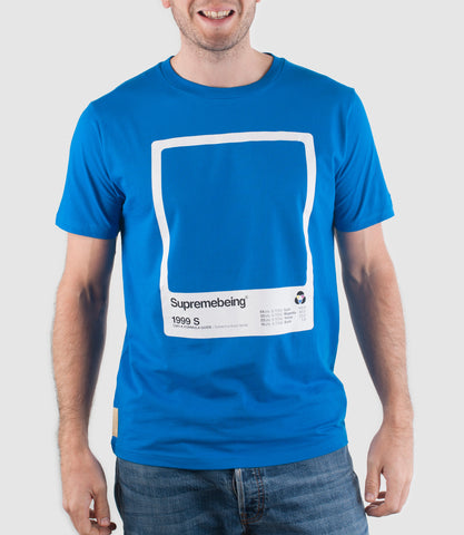 CMYK Swatch T-Shirt Bright Blue