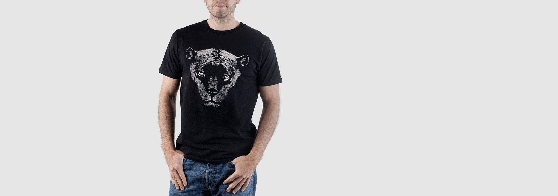 Panther Organic Cotton T-Shirt Black