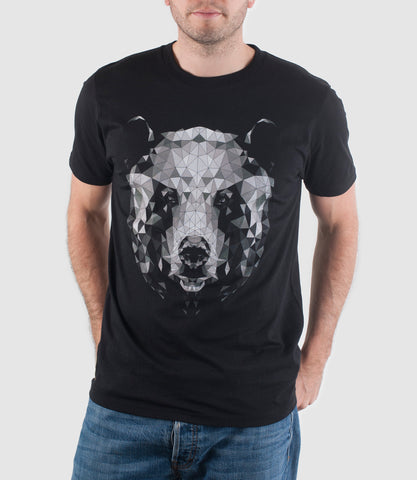 Mono Bear T-Shirt Black