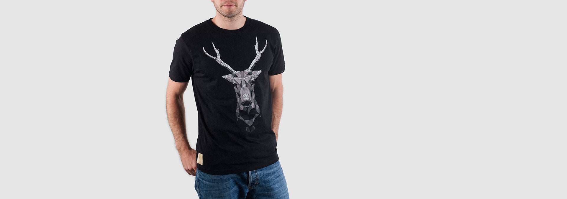 Mono Buck Organic Cotton T-Shirt Black