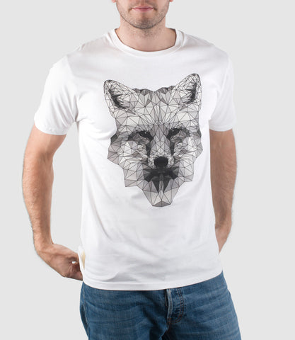 Mono Fox Organic Cotton T-Shirt White