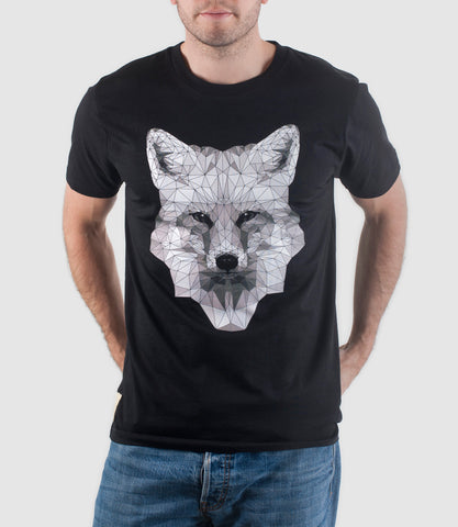 Mono Fox T-Shirt Black