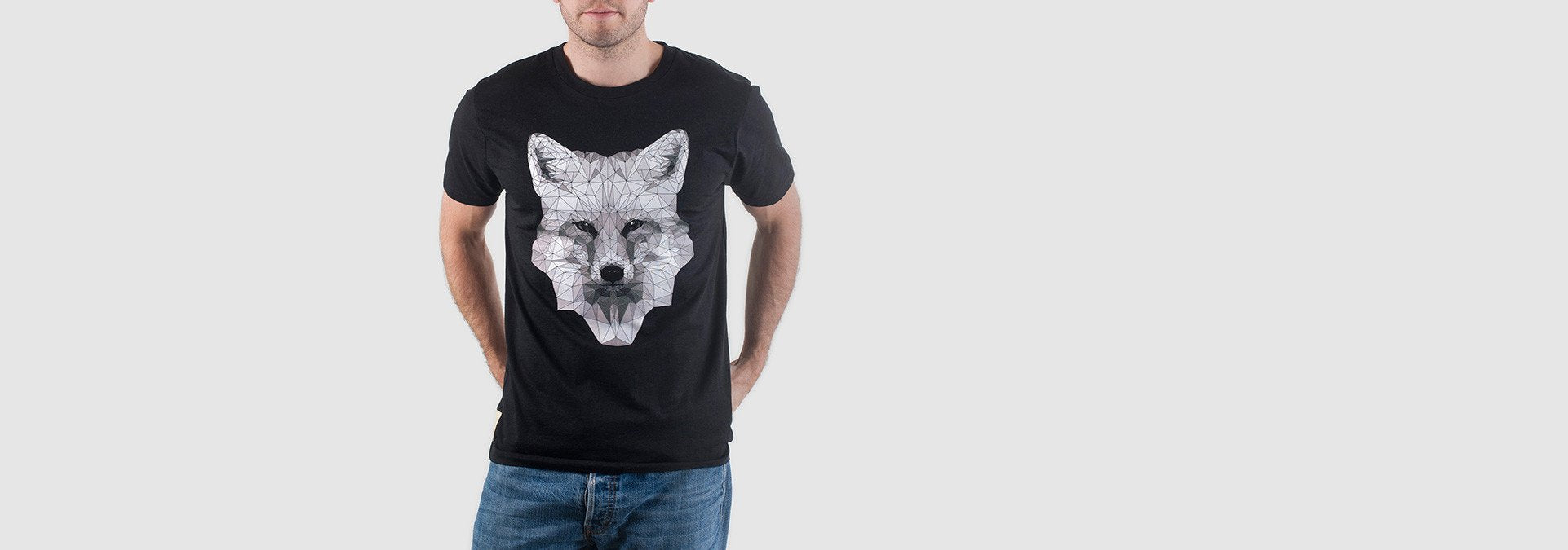 Mono Fox Organic Cotton T-Shirt Black