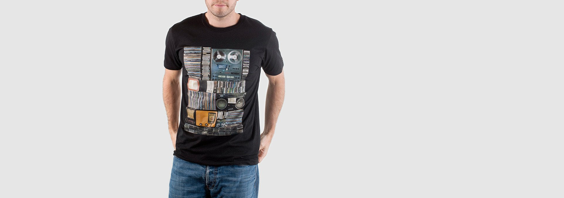 Hoarder Organic Cotton T-Shirt Black