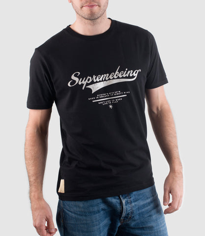 Retroscript T-Shirt Vintage Black