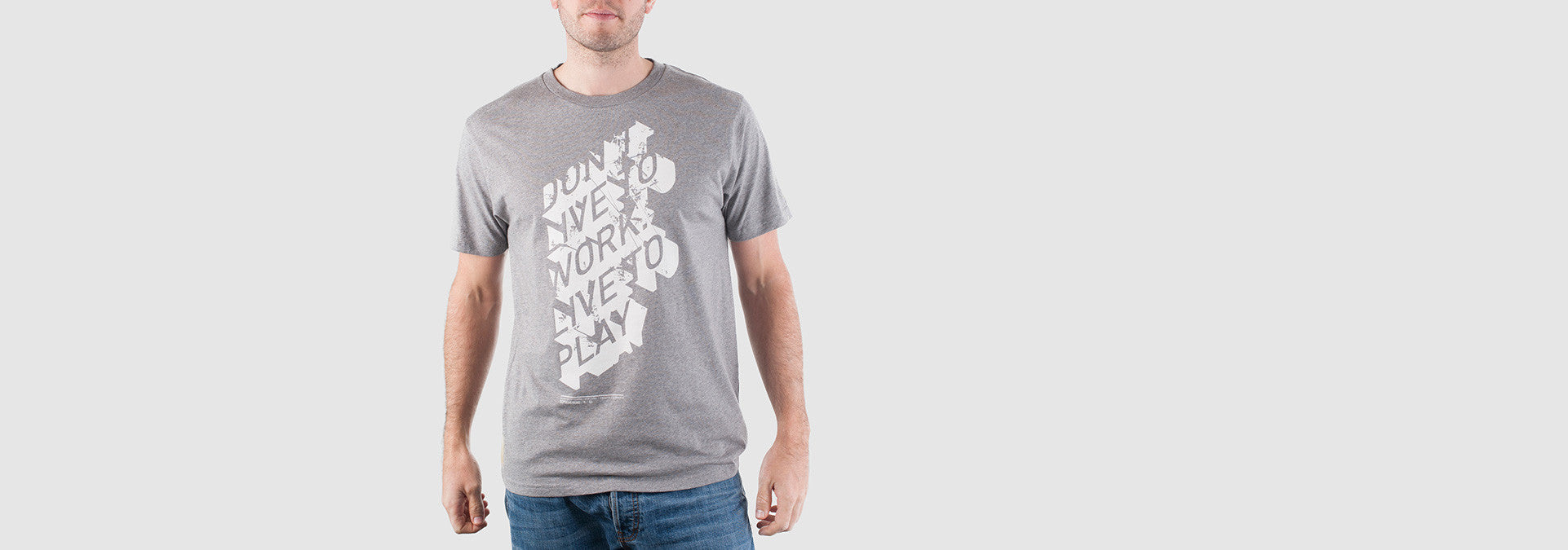 Don't Work T-Shirt Grey Marl