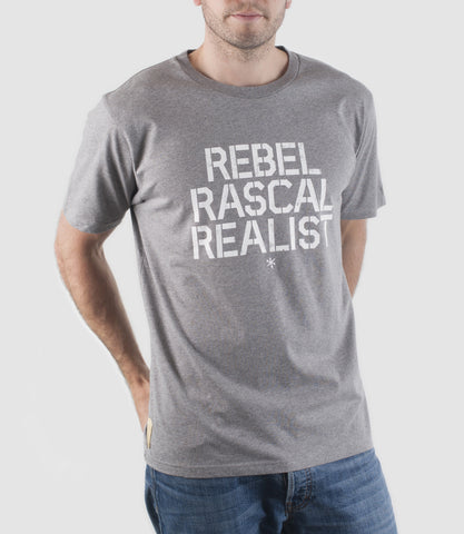 Rebel T-Shirt Grey Marl