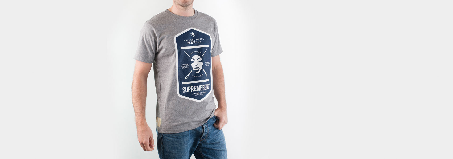 Graft Sixteen T-Shirt Grey Marl