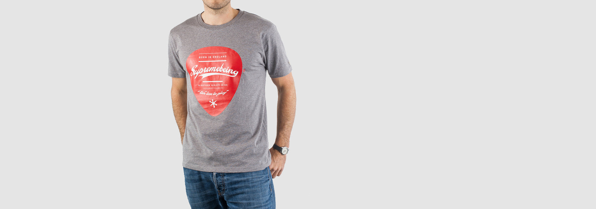 Plectrum T-Shirt Grey Marl