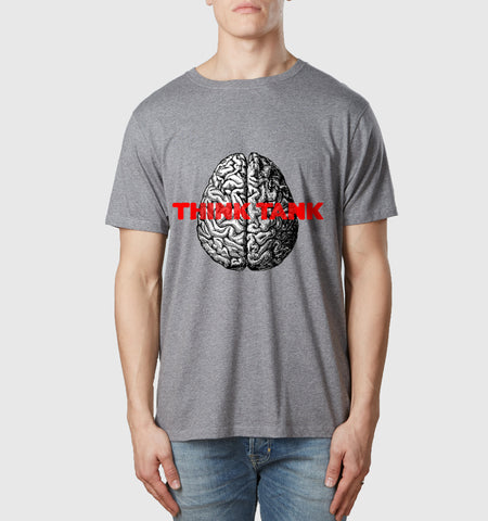 Think Tank Organic Cotton T-Shirt Melange Grey