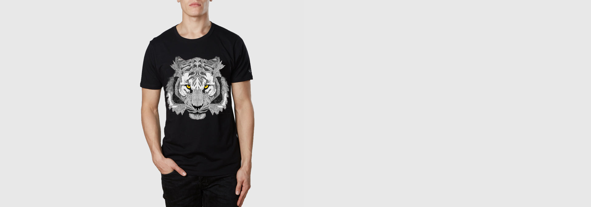 Mono Tiger Organic Cotton T-Shirt Black