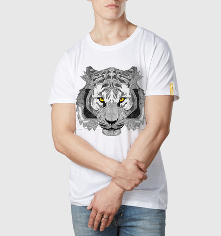Mono Tiger Organic Cotton T-Shirt White