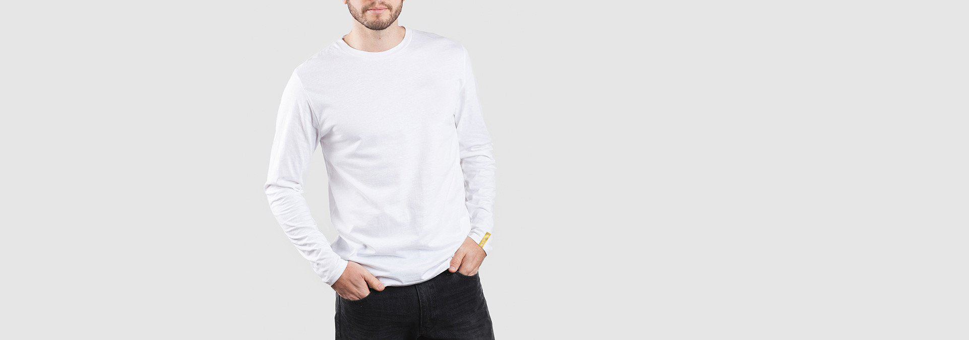 Core Organic Cotton L/S T-Shirt White