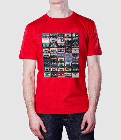 Cassettes T-Shirt Red